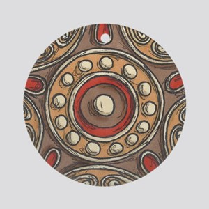 Patterned Circle Round Ornament