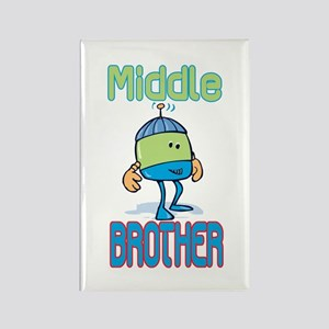 Robot Middle Brother Rectangle Magnet