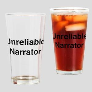 Unreliable Narrator Drinking Glass