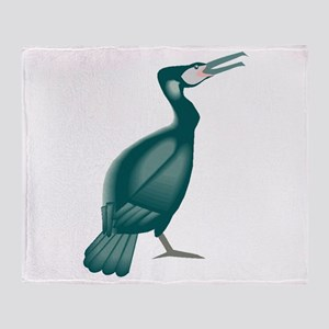 Cormorant Bird Throw Blanket