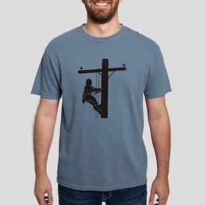lineman silhouette 1_black T-Shirt