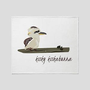 Kooky Kookaburra Throw Blanket