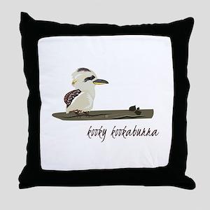 Kooky Kookaburra Throw Pillow