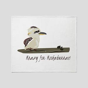 Krazy Kookaburras Throw Blanket