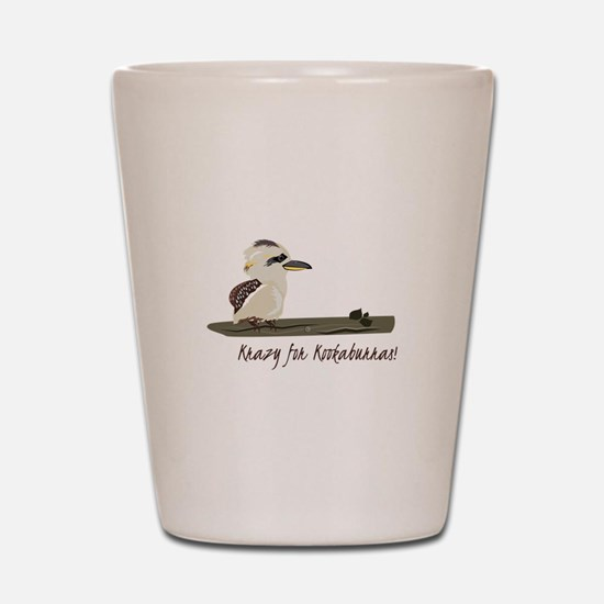 Krazy Kookaburras Shot Glass