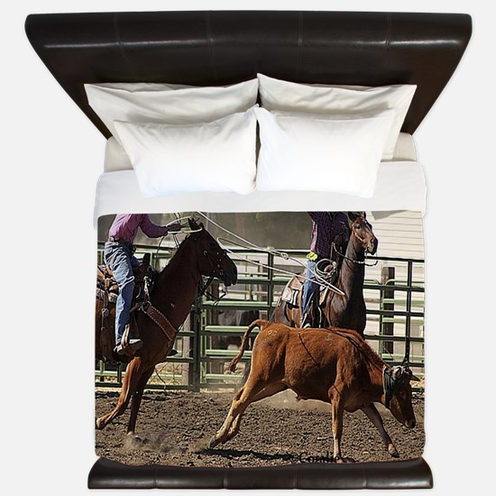Roping Rodeo Action King Duvet