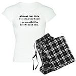 Little Voice In Your Head Women's Light Pajamas