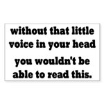 Little Voice In Your Head Sticker (Rectangle)