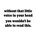 Little Voice In Your Head 35x21 Wall Decal