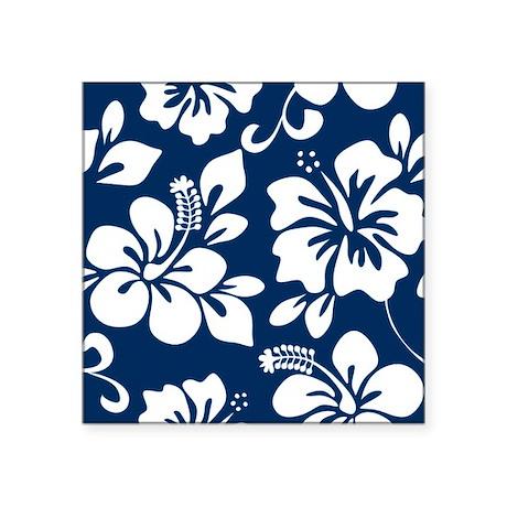 blue hawaiian flowers stickers cafepress Navy Front Door Brown House