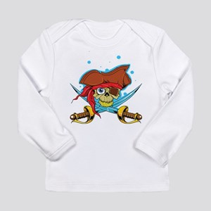 Pirate Skull and Swords Long Sleeve T-Shirt