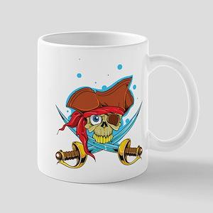 Pirate Skull and Swords Mugs