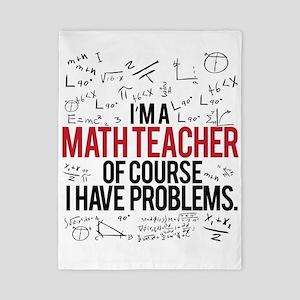 Math Teacher Problems Twin Duvet Cover