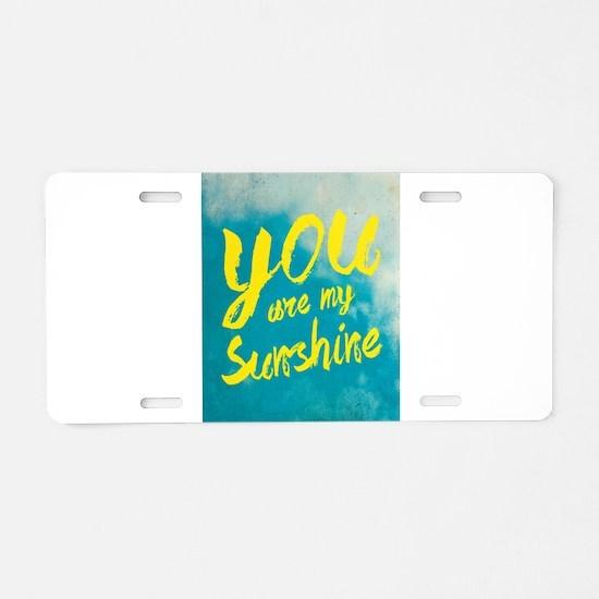 sunshine8 Aluminum License Plate