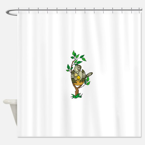 Bird Family Shower Curtain