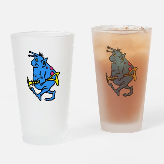 Disgruntled Martian Drinking Glass