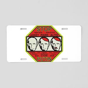 Stop Putin Aluminum License Plate