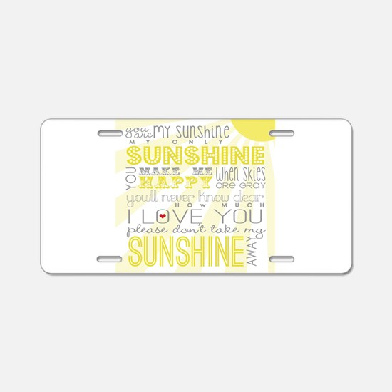 sunshine11 Aluminum License Plate
