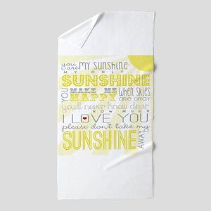 sunshine11 Beach Towel