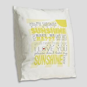 sunshine11 Burlap Throw Pillow