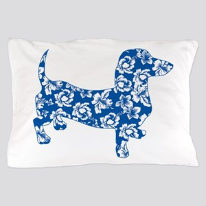 Hawaiian Dachshund Doxie Pillow Case