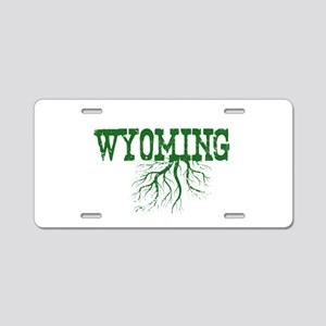 Wyoming Roots Aluminum License Plate