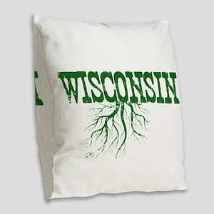 Wisconsin Roots Burlap Throw Pillow