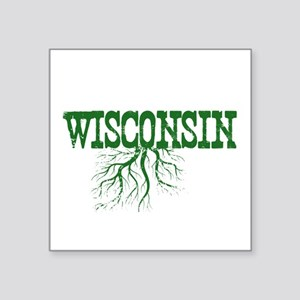 "Wisconsin Roots Square Sticker 3"" x 3"""