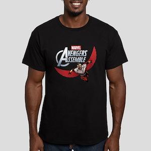 Falcon Assemble Men's Fitted T-Shirt (dark)