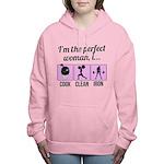 cook, clean, iron Women's Hooded Sweatshirt
