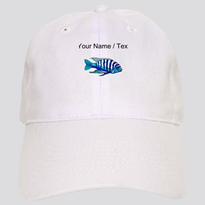 Custom Blue Striped Cichlid Baseball Cap