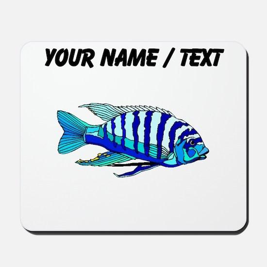 Custom Blue Striped Cichlid Mousepad