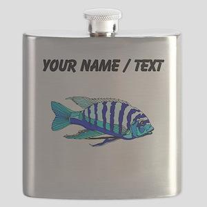 Custom Blue Striped Cichlid Flask