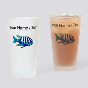 Custom Blue Striped Cichlid Drinking Glass