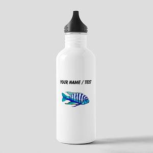 Custom Blue Striped Cichlid Water Bottle