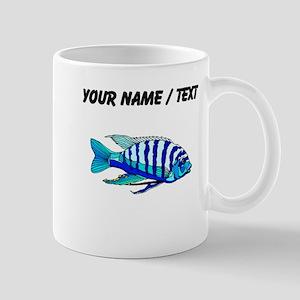 Custom Blue Striped Cichlid Mugs