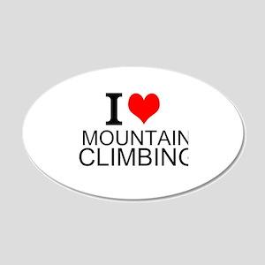 I Love Mountain Climbing Wall Decal