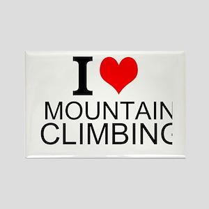 I Love Mountain Climbing Magnets