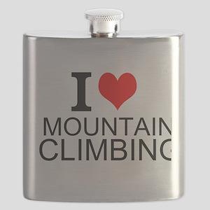 I Love Mountain Climbing Flask