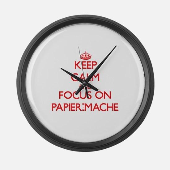 Unique Paper mache Large Wall Clock