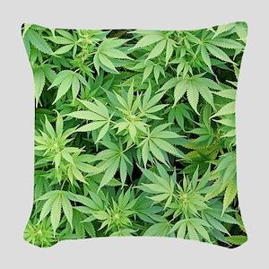 Cannabistic Woven Throw Pillow