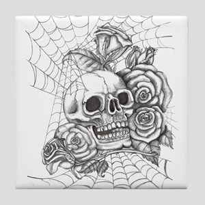 Skull and Roses Tile Coaster