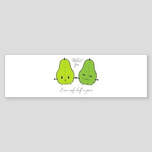 Half A Pear Bumper Sticker