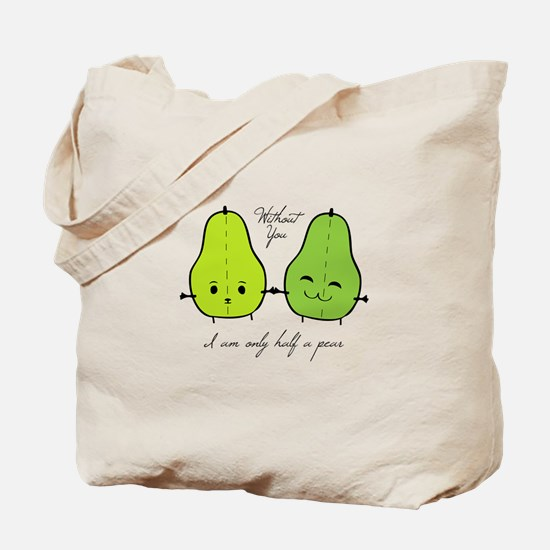 Half A Pear Tote Bag