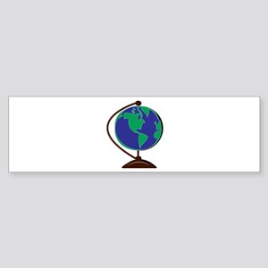 Desk Globe Bumper Sticker