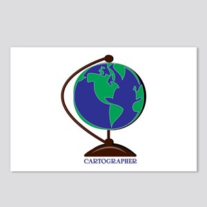 Cartographer Globe Postcards (Package of 8)