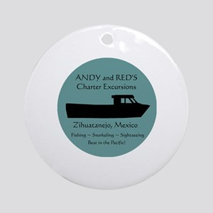 Zihuatanejo Charter Boats Round Ornament
