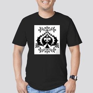 Ornate Spade Design Ash Grey T-Shirt