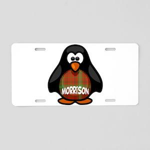 Morrison Tartan Penguin Aluminum License Plate