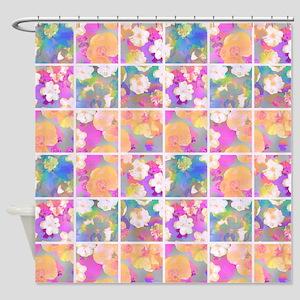 Flower Collage, Shower Curtain